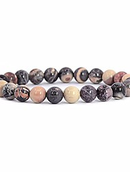 cheap -natural exotica jasper gemstone 8mm round beads stretch bracelet 7 inch