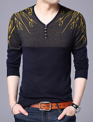 cheap -Men's Wedding Christmas Deep V Glitter Embroidery Polka Dot Color Block Cardigan Pullover Sweater Wool Long Sleeve Sweater Cardigans V Neck Fall Winter Red Yellow Royal Blue