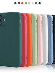 cheap -Case For Apple iPhone 12 / iPhone 12 Mini / iPhone 12 Pro Max Shockproof Back Cover Solid Colored TPU