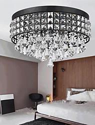 cheap -38 cm Crystal Chandelier Ceiiling Light Flush Mount Metal Electroplated Painted Finishes Modern Fashion 110-120V 220-240V