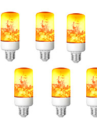 cheap -LED Flame Effect Fire Light Bulb E26-E27 Base 4 Modes with Upside Down Effect Halloween Christmas Atmosphere Decoration 8W AC85-265V