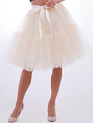 cheap -Ballet Dancer Petticoat Hoop Skirt Tutu Women's Movie Cosplay Vacation Classic Lolita White / Black / Red Skirts Halloween Carnival Masquerade Organza Cotton