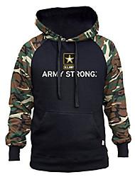 cheap -men's army strong star black/camo raglan baseball hoodie 3x-large black