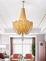 cheap -68 cm Luxury Chandelier Dimmable Gold Silver Tassel Design Flower Shape Modern Electroplated 110-120V 220-240V
