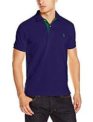 cheap -men's slim fit solid pique polo shirt, dodger blue, x-large
