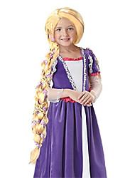 cheap -HalloweenCostumes Rapunzel Wig Costume(Only Wig No Flower)Child Wig Girl Wig Blond Braid Wig