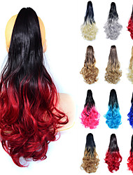 cheap -Clip In / On Hair Tie Fashionable Design / Creative / Women Synthetic Hair Hair Piece Hair Extension Curly 22 inch Professioanl Use / Office & Career / Festival