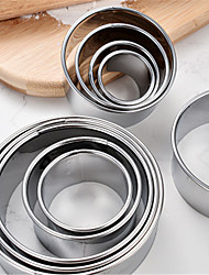 cheap -11pcs Cake Molds Multifunction Round Stainless Steel Baking & Pastry Tools Multifunction