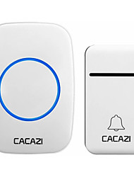 cheap -CACAZI Self-Powered Wireless Doorbell Waterproof 200M Remote No Battery Smart House Doorbell Family Turquoise Doorbell Ring Tone