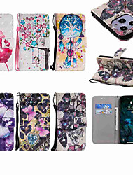 cheap -Case For Apple iPhone 12 / iPhone 12 Mini / iPhone 12 Pro Max Wallet / Card Holder / with Stand Full Body Cases Butterfly / Tree / Flower PU Leather / TPU