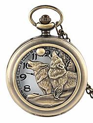 cheap -quartz pocket watch hunter dog playing hollow pocket watch for men retero pocket watch bithday gift
