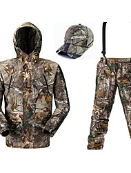 cheap -Men's Hiking Softshell Jacket Camouflage Hunting Jacket Military Tactical Jacket Outdoor Thermal Warm Windproof Fast Dry Quick Dry Autumn / Fall Winter Spring Camo / Camouflage Clothing Suit
