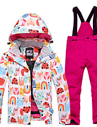 cheap -Boys' Girls' Ski Jacket with Pants Skiing Snowboarding Winter Sports Waterproof Windproof Warm 100% Polyester Clothing Suit Ski Wear / Kids