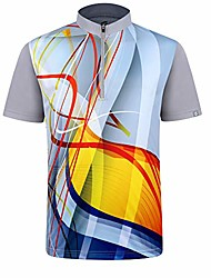 cheap -men's bowling sublimation printed jersey material wicks sweat & dries fast, new finishing technologies to combat smell with material wicks sweats & dries fast m grey