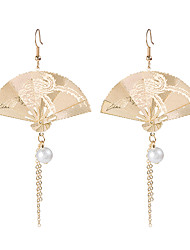 cheap -Women's Drop Earrings Earrings fan earrings Fashion Vintage Fashion Earrings Jewelry Gold For Gift Vacation 1 Pair
