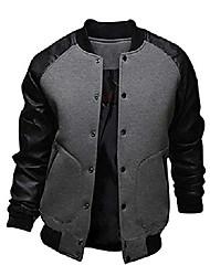 cheap -mens fashion splicing sleeve letterman jacket varsity baseball bomber jacket