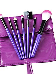 cheap -professional 7pcs makeup brushes cosmetic eyebrow shadow lip make-up brush set (4 colors)