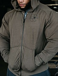 cheap -Men's Pullover Hoodie Sweatshirt Zip Up Hoodie Sweatshirt Graphic Text Letter Zipper Monograms Front Pocket Hooded Daily Sports Basic Casual Hoodies Sweatshirts  Long Sleeve Cotton Black Army Green