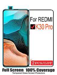 cheap -2PCS Xiaomi Screen Protector Redmi K30 Pro / K30i / K30 / K20 Pro / K20 High Definition (HD) Front Screen Protector Tempered Glass Second-Generation Enhanced Screen Printing