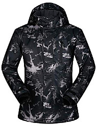 cheap -men's ski jacket outdoor waterproof windproof coat snowboard mountain rain jacket sjm006 graffiti black us s