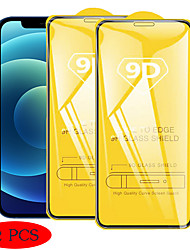 cheap -2 PCS 9D Full Cover Tempered Glass Film For iPhone 12 Pro Max Tempered Glass Screen Protector For iPhone 11 X XS XR Xs Max 7 8 Mini