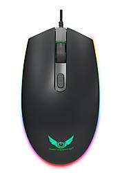 cheap -LED Flash Gaming Mouse 1600 DPI 3 Level Adjustable 1.45m USB Cable Ergonomics RGB Mouse For Desktop Laptop Gamer Office Mice