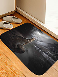 cheap -Lone Wolf Digital Printing Floor Mat Modern Bath Mats Nonwoven / Memory Foam Novelty Bathroom