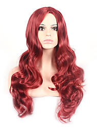 cheap -Synthetic Wig Natural Wave Natural Wave Wig Long Very Long Red Synthetic Hair Women's Red