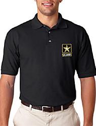 cheap -u.s. army embroidered polo shirt. black (xxl)