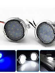 cheap -2Pcs 2W 12V 6500K LED Under Side Mirror Puddle Light For  Ford Edge Fusion Flex Explorer Mondeo Taurus F-150 Expedition