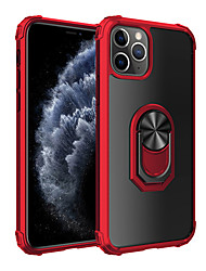 cheap -Phone Case For Apple Back Cover iPhone 12 Pro Max 11 SE 2020 X XR XS Max Ring Holder Solid Color Acrylic Metal