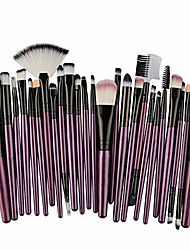 cheap -makeup brush set 25 pcs, lanyun make up brush set professional make up face eyeshadow eyeliner foundation blush eyebrow concealer face brush makeup brush cosmetic brush (purple c)