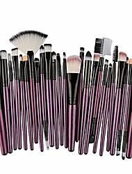 cheap -makeup brush set 25 pcs, lanyun make up brush set professional make up face eyeshadow eyeliner foundation blush eyebrow concealer face brush makeup brush cosmetic brush (purple c)