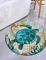 cheap -Turtles In The Ocean Round Mat Carpet Door Mat Bedroom Living Room Carpet Study Room Carpet Kitchen Bathroom Anti-slip Mat 1pc