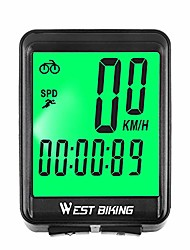 cheap -bike computer, large digit automatic wake-up cycle speedometer with lcd backlight, multi-function waterproof bicycle odometer cycling accessories, wireless & wired