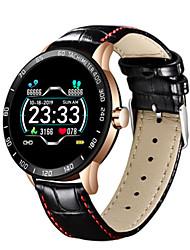 cheap -New fashion leather smart watch men sport Fitness tracker Pedometer watch Heart rate blood pressure smartwatch reloj inteligente