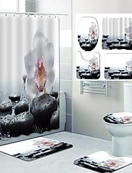cheap -Cobblestone Pattern PrintingBathroom Shower Curtain Leisure Toilet Four-Piece Design