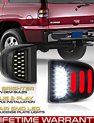 cheap -2Pcs 3W 6500K  Black LED License Plate Light Lamp For Chevy GMC 1999-2013 Chevy Silverado 1500 2000-2006 Chevy Suburban 1500  2500 2001-2014 GMC Sierra 2500 HD 2000-2006 GMC Yukon XL 1500  2500