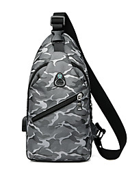cheap -Men's Bags Oxford Cloth Sling Shoulder Bag Chest Bag Pattern / Print Zipper Daily Outdoor 2021 MessengerBag Black Blue Gray