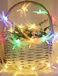 cheap -3M 20LEDs Dragonfly Garland Fairy LED String Lights Battery Powered 1.5M 10LEDs Outdoor Garden Wedding Party Girls Room Decoration Lights Shipped Without Batteries