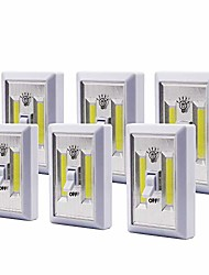 cheap -6 pack super bright switch-battery operated led night lights,cob led cordless light switch,tap light,touch,night,utility,wall wireless mount under cabinet,shed,kitchen,garage,basement and more