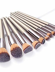 cheap -champagne makeup brushes set foundation powder blush eyeshadow concealer lip eye make up brush cosmetics beauty tools