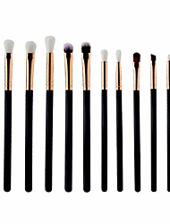 cheap -12 pcs makeup brushes cosmetic brush set makeup tools cosmetic professional tools toiletry artificial fiber brushes foundation brushes for powder cream(black)