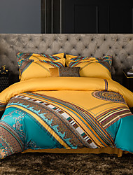 cheap -Duvet Cover Sets Luxury Silk / Cotton Jacquard 4 Piece Bedding Set With Pillowcase Bed Linen Sheet Single Double Queen King Size Quilt Covers Bedclothes