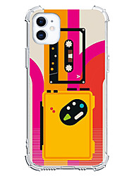 cheap -Retro Tape Unique Design Case For iPhone 12 11 SE2020 Instagram Style Protective Case Clear Shockproof Back Cover TPU for iPhone 12 Pro Max XR XS Max iPhone 8 7 Plus