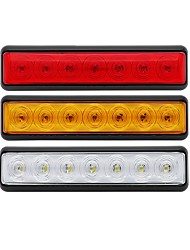 cheap -2 Pcs 1.5W 7 LED Truck Pickup Lorry Smoked Lens Amber Side Marker Light