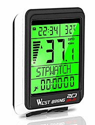 cheap -bicycle computer, 5 languages bike speedometer odometer wireless waterproof, multifunctional cycle computer lcd backlight, cycling accessories