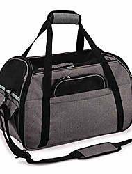 cheap -soft sided pet carrier waterproof pet travel bag airline approved cat carrier portable foldable dog travel bag with mat for outside train car plane, grey large