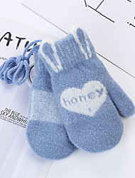 cheap -2pcs Toddler Unisex Active Letter Knitted Knitwear Gloves Blue / Red / Blushing Pink One-Size