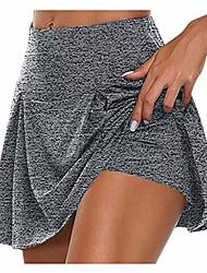 cheap -Women's Running Shorts Yoga Skirt Seamless Shorts Dark Gray White Black Yoga Running Plus Size Sports Activewear Stretchy Loose